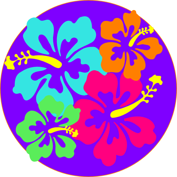 Hibiscus clipart line art. Cuisine of hawaii luau