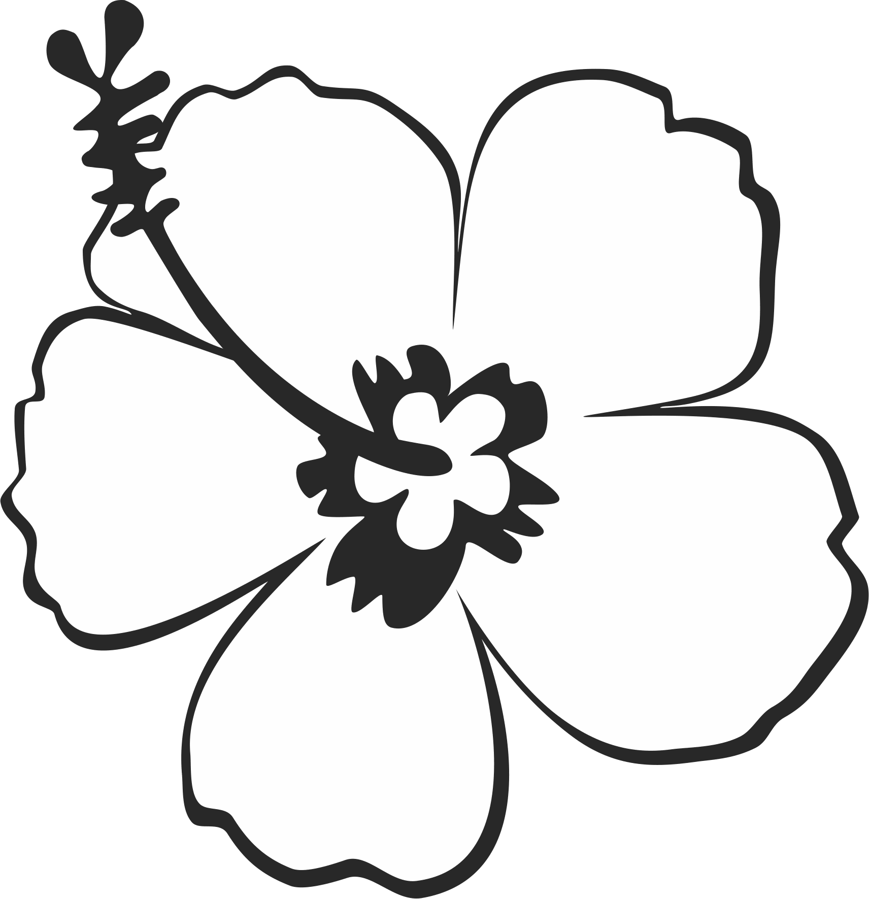 Outline Clipart Hibiscus Outline Hibiscus Transparent Free For Download On Webstockreview 2020
