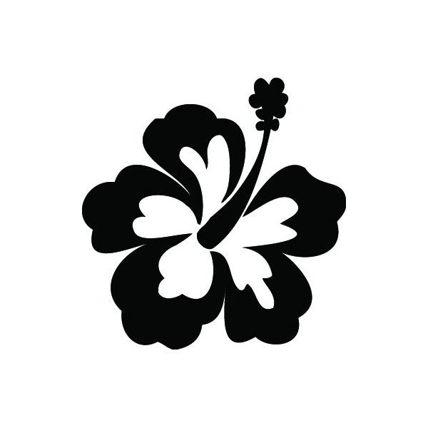 Free flower template download. Hibiscus clipart simple