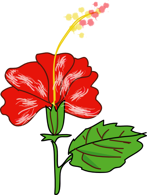 Flower i royalty public. Hibiscus clipart svg free