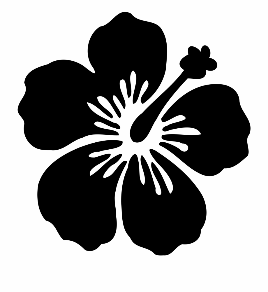 Hibiscus clipart svg free. Flower silhouette at getdrawings