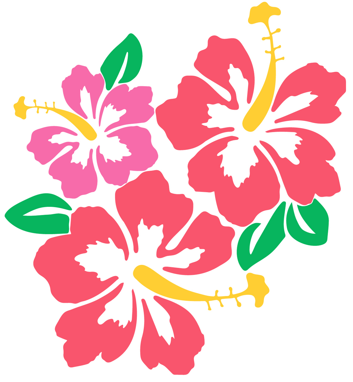 Cut files craftables . Hibiscus clipart svg free