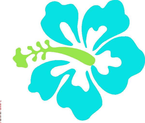Aqua clip art at. Hibiscus clipart tropical vine