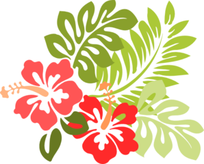 Clip art vector online. Hibiscus clipart