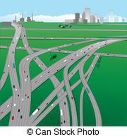 Highway clipart. Highways vector graphics eps
