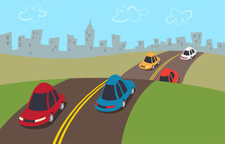 collection of car. Highway clipart