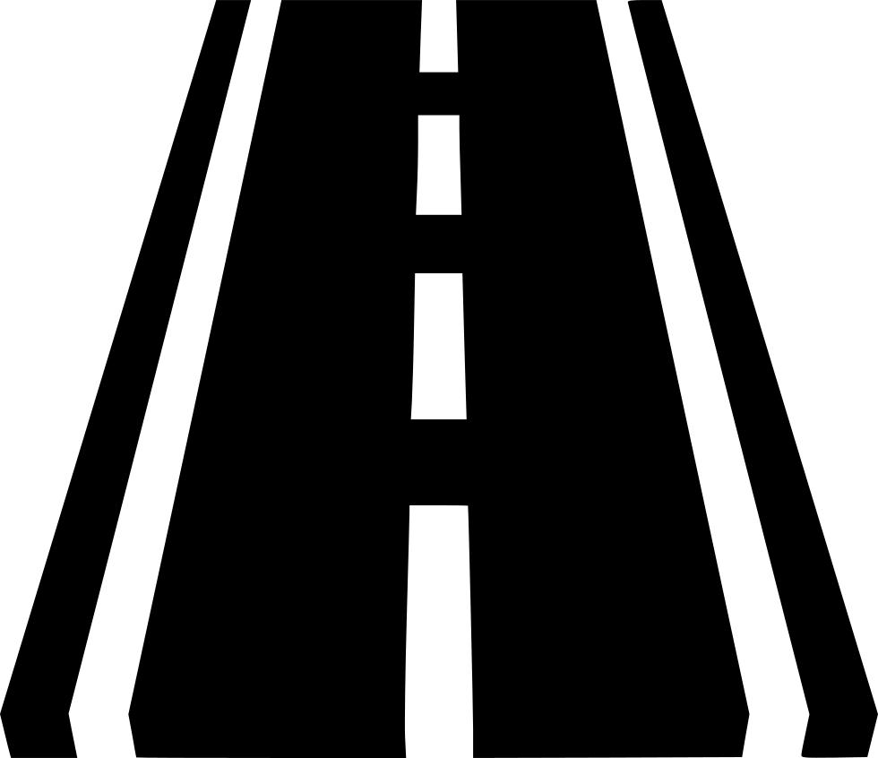 Path clipart far distance. Road lane trip highway