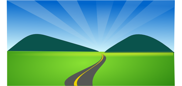Country side clip art. Highway clipart countryside