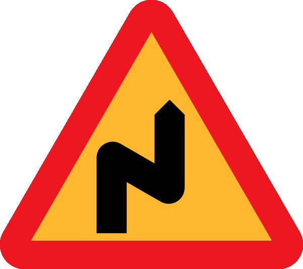 Highway clipart curvy road. Zig zag sign clip