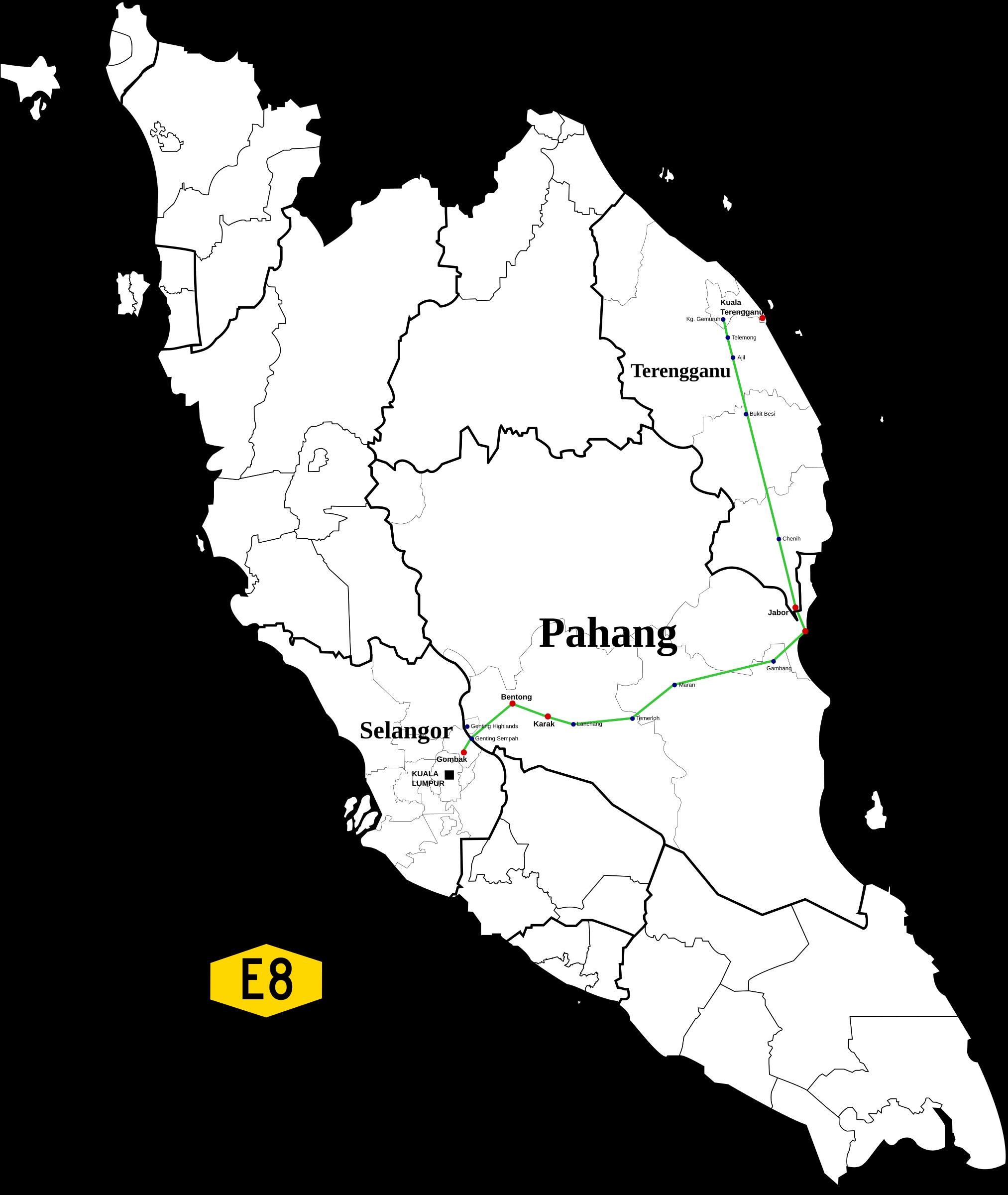 Highway clipart expressway. East coast malaysia big