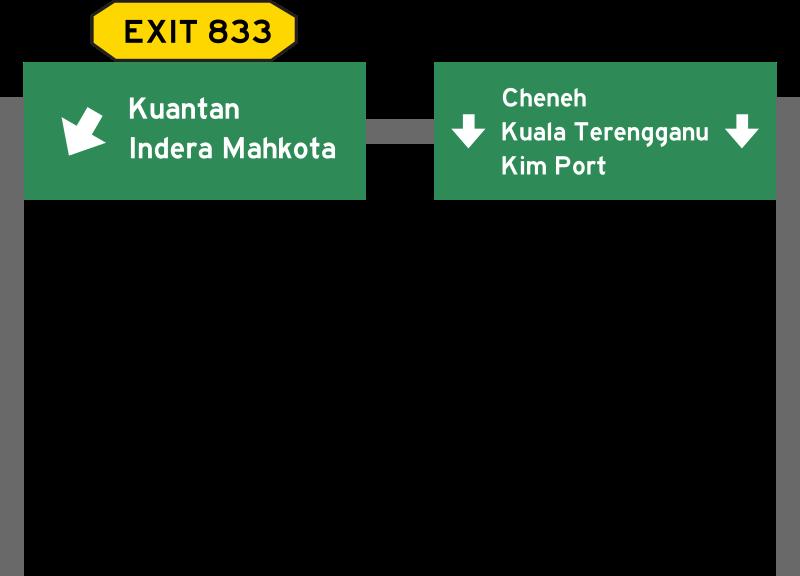 Malaysia roadsign medium image. Highway clipart expressway