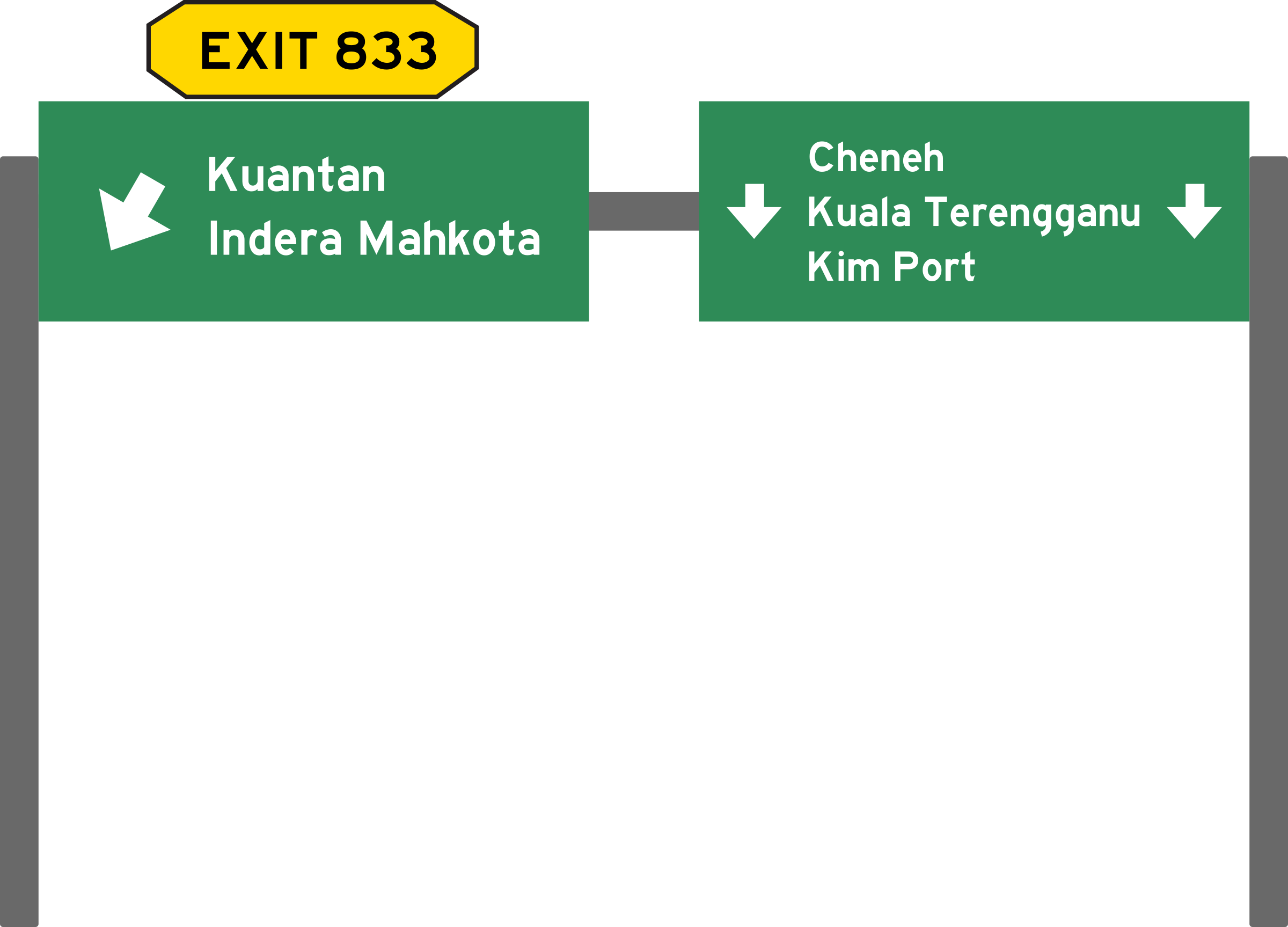 Highway clipart highway exit. Malaysia expressway roadsign big