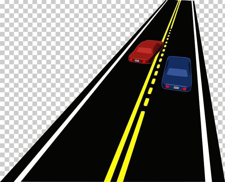 Car road overtaking png. Highway clipart highway line