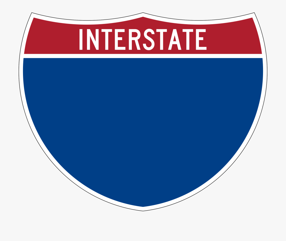 Wide road blank signs. Highway clipart interstate highway