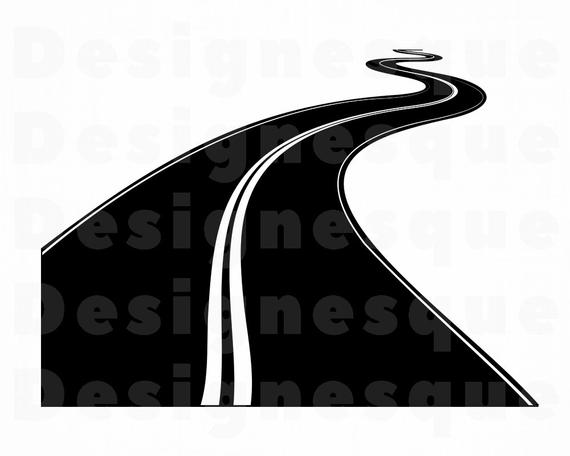 Svg files for cricut. Highway clipart long road