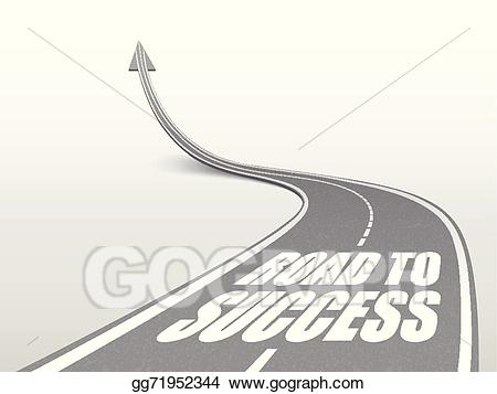Vector art to words. Highway clipart success road