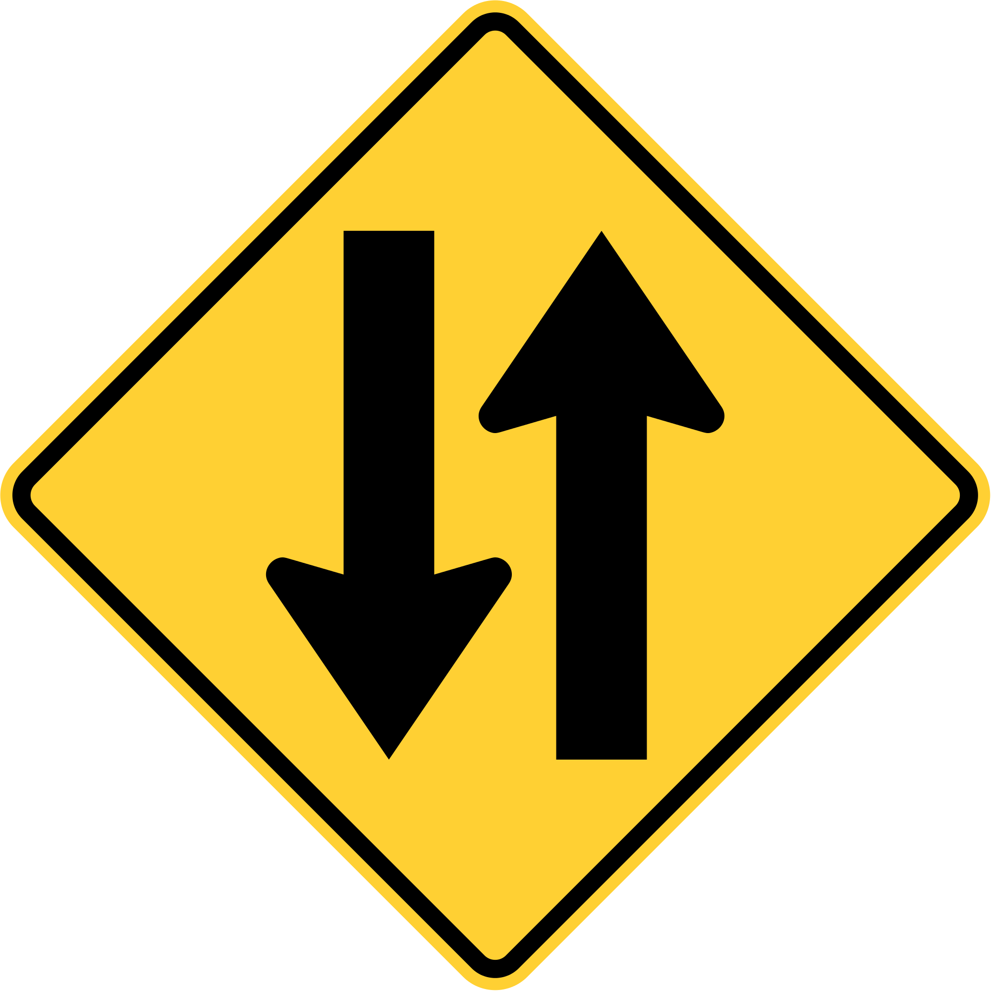 Highway clipart two way. File mutcd w svg