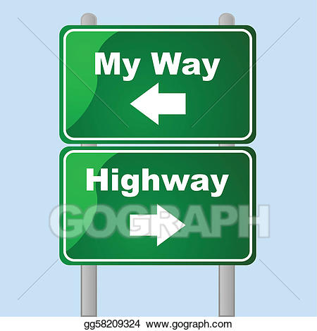 Vector illustration my or. Highway clipart two way