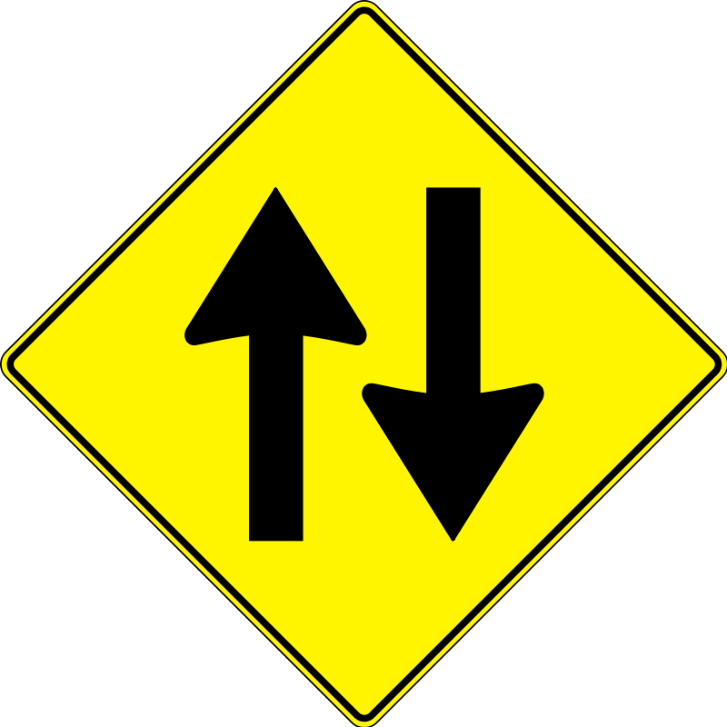 Highway clipart two way. Free road sign download