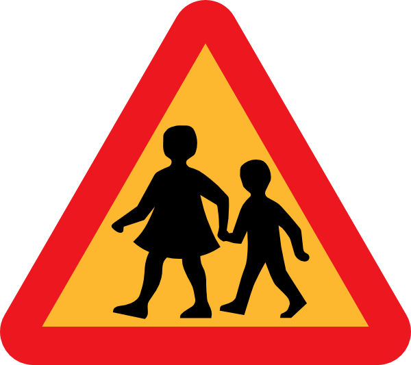 Parent clipart walking. Road sign graphics free
