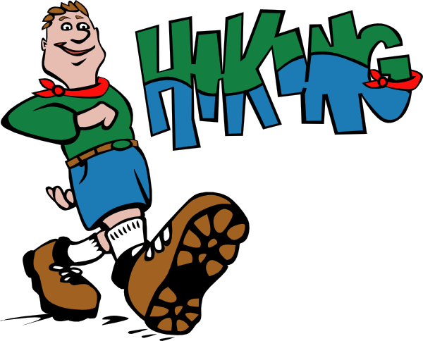 Hike clipart. Hiker hiking clip art