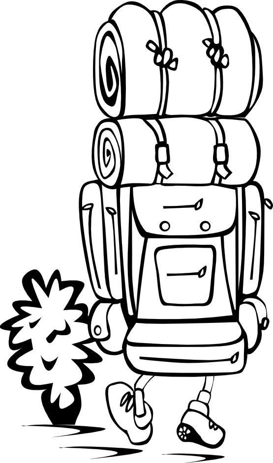 Backpack hiking clip art. Hike clipart black and white