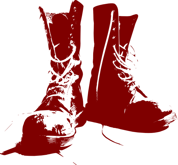 Boots clip art at. Hike clipart boot print