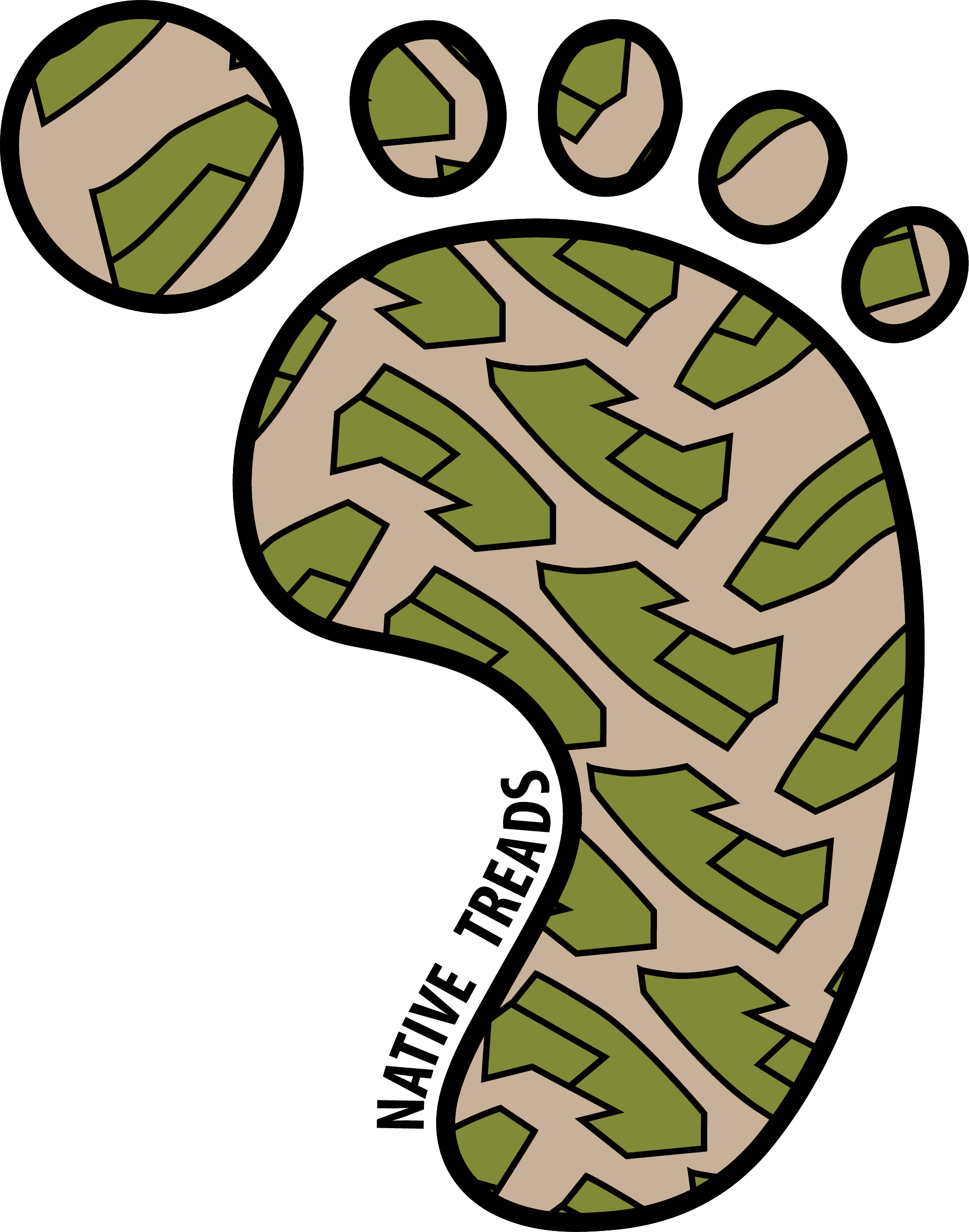 Native treads treadspng. Hike clipart boot tread