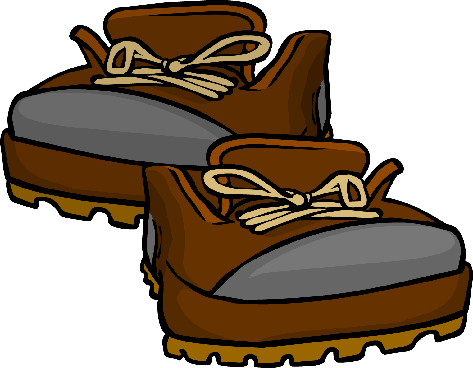 Hiking boots club penguin. Hike clipart brown boot