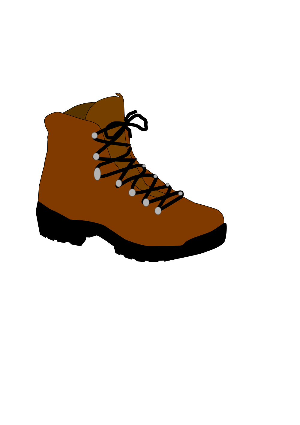 Hike clipart brown boot. Onlinelabels clip art hiking