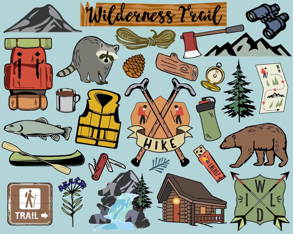 Hiking camping clip art. Hike clipart cute