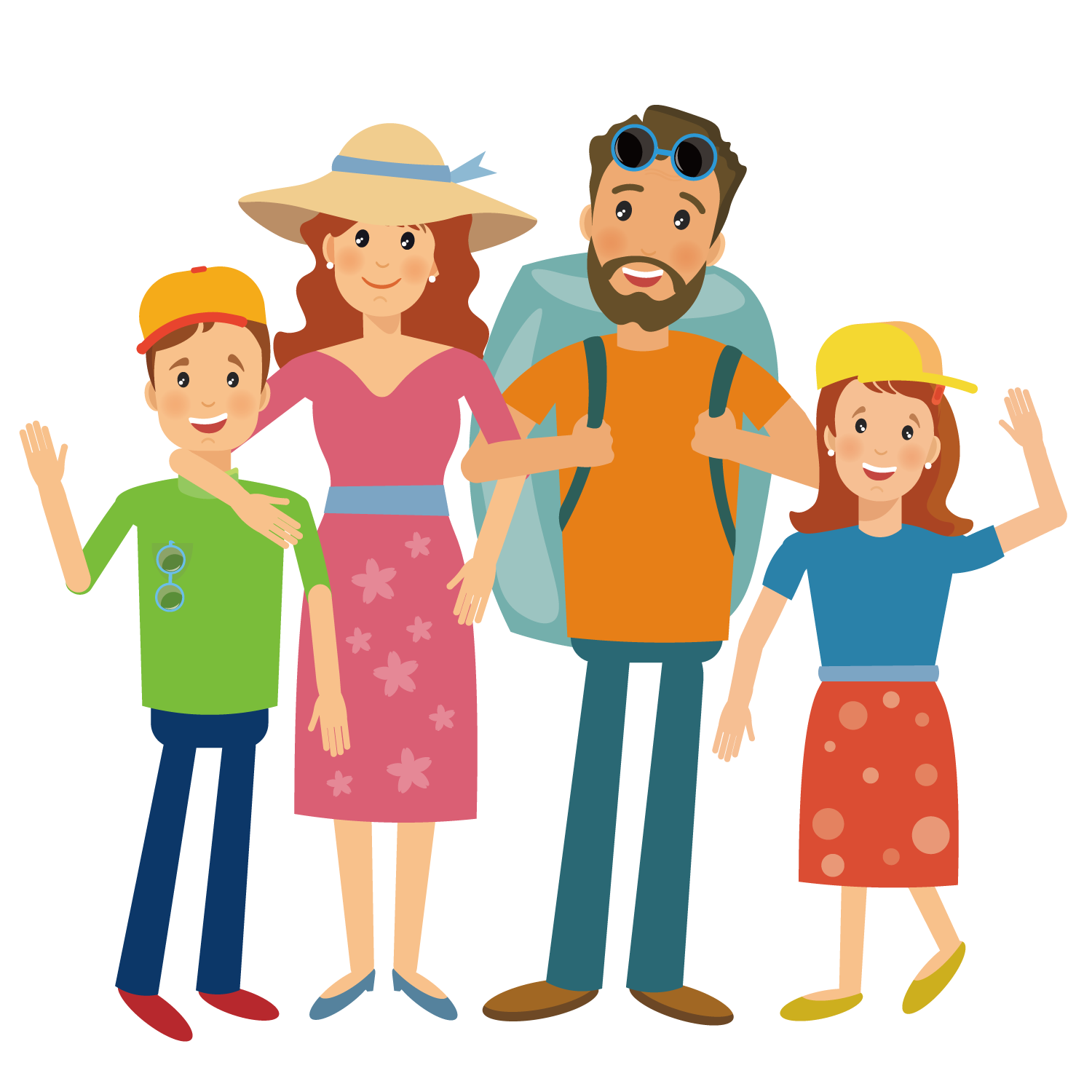 Camping hiking illustration travel. Hike clipart family hike