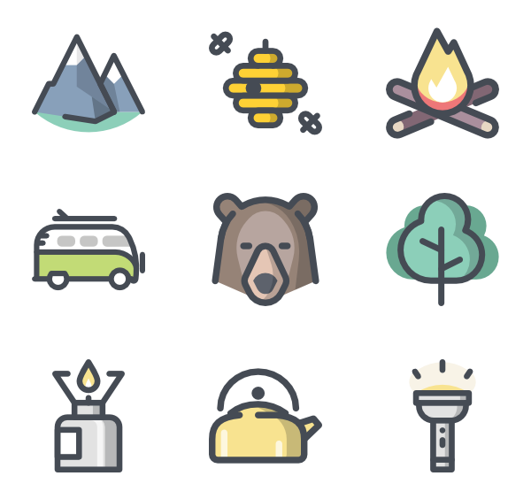 Hike clipart family hike. Hiking icons free vector