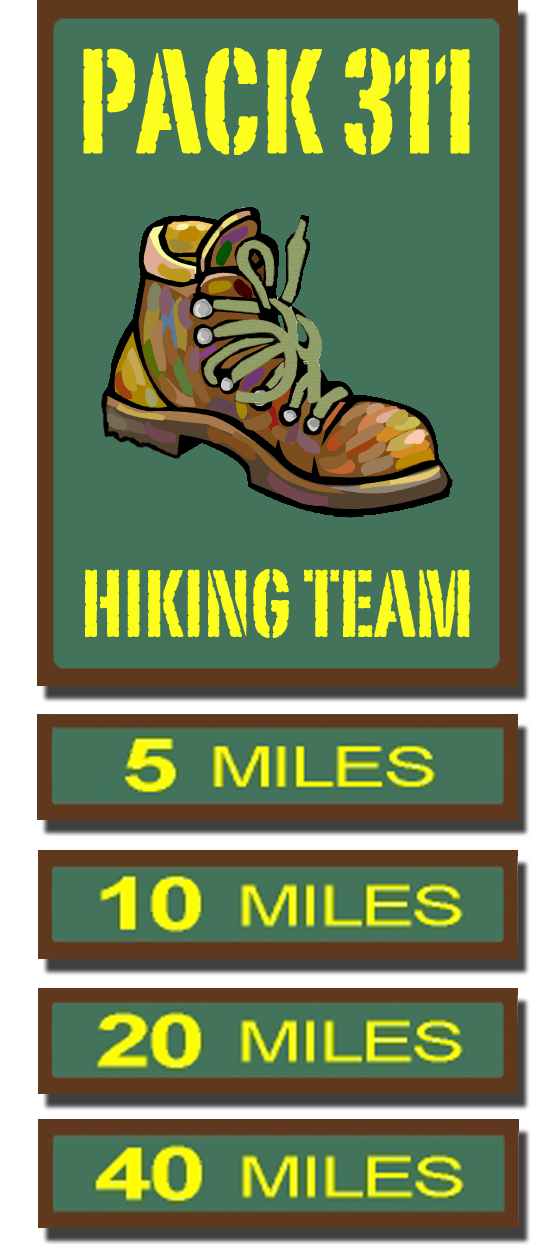 Hiker clipart family hike. Cub pack the hiking