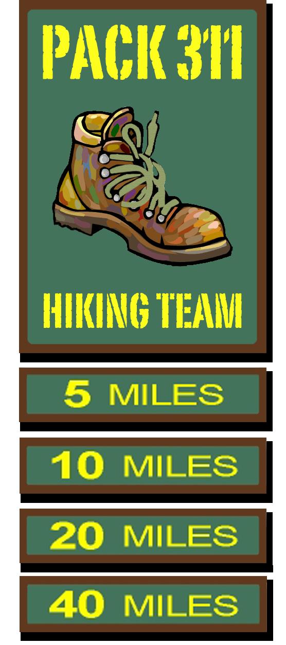 Cub pack the hiking. Hike clipart family hike