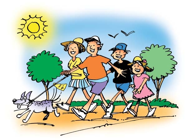 Hiker clipart family hike. Hiking clip art library