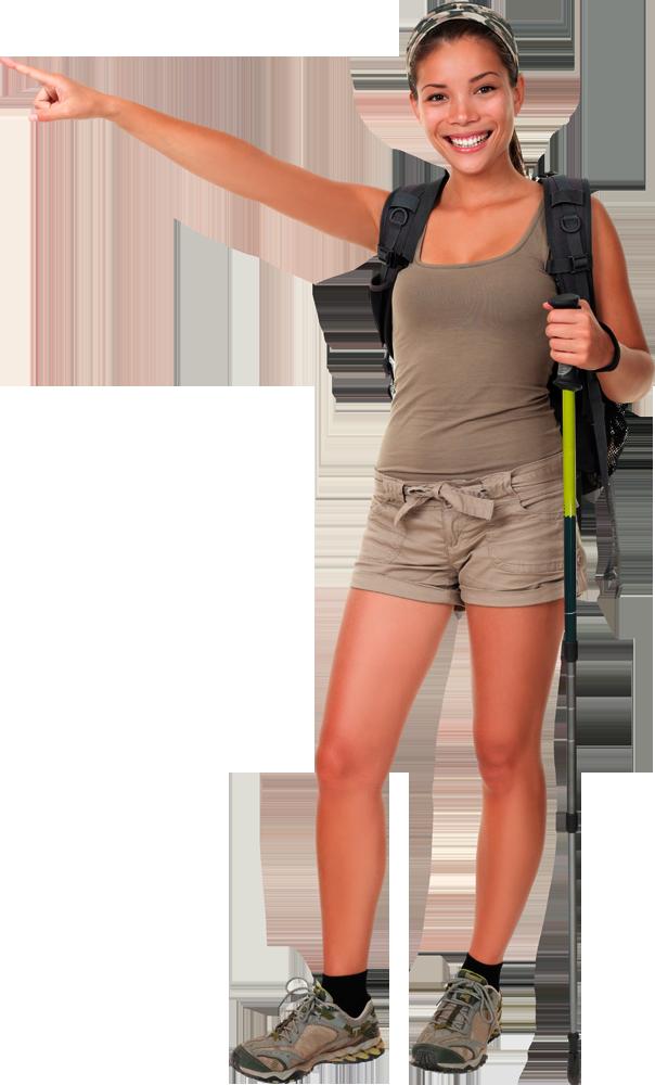 Hike clipart female hiker. Hiking png transparent images