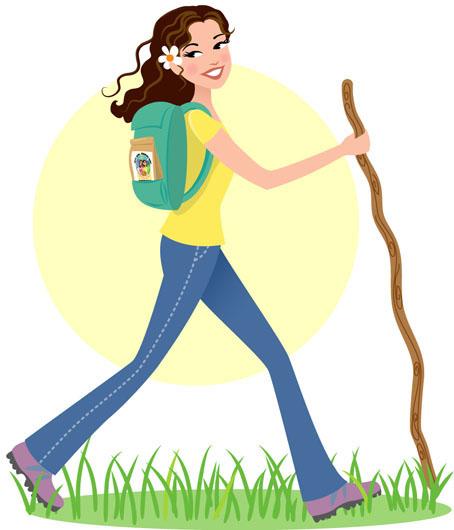 Hike clipart female hiker. Girl hiking free download