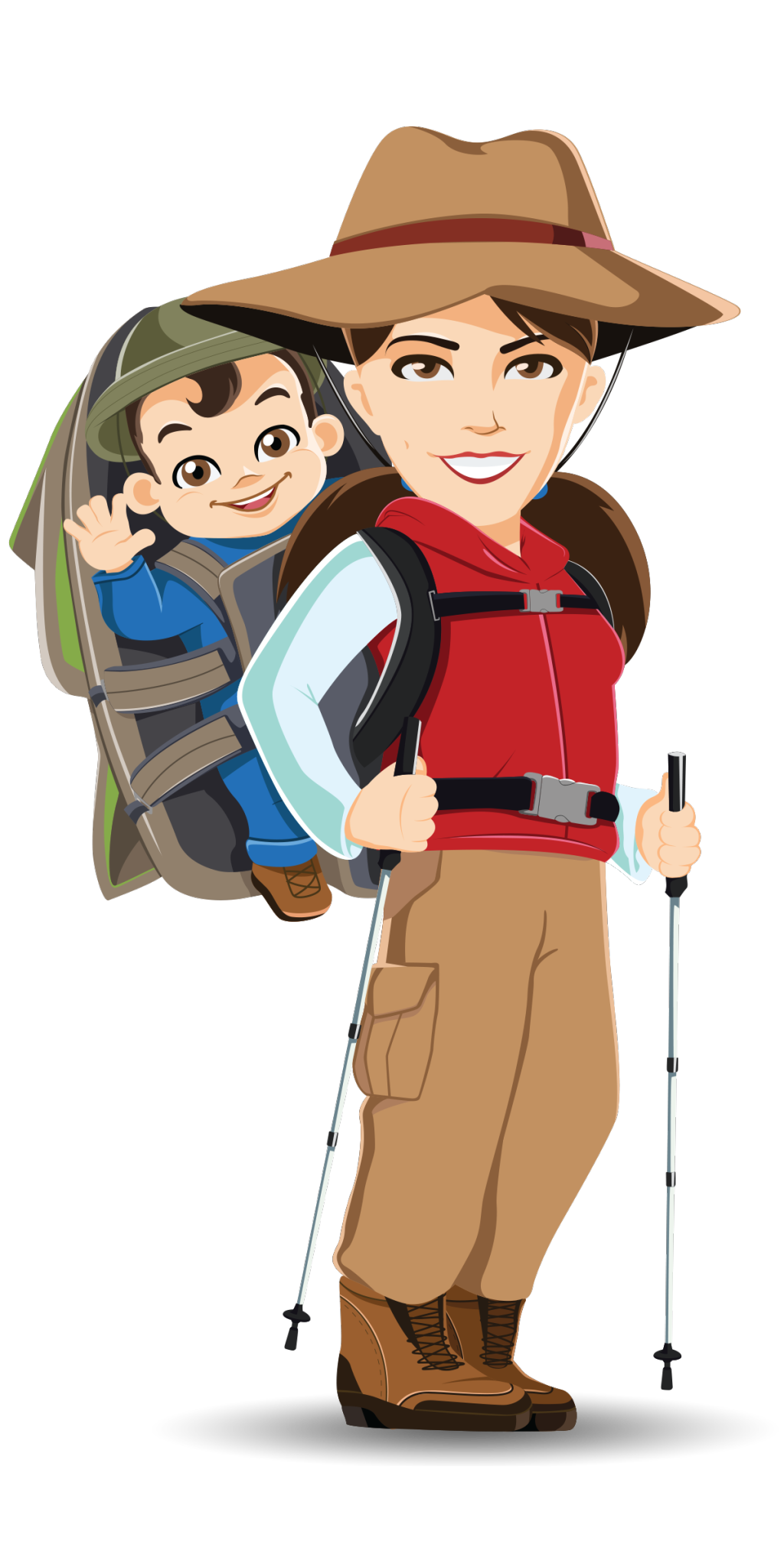 Hiking baby can i. Hike clipart hikinh