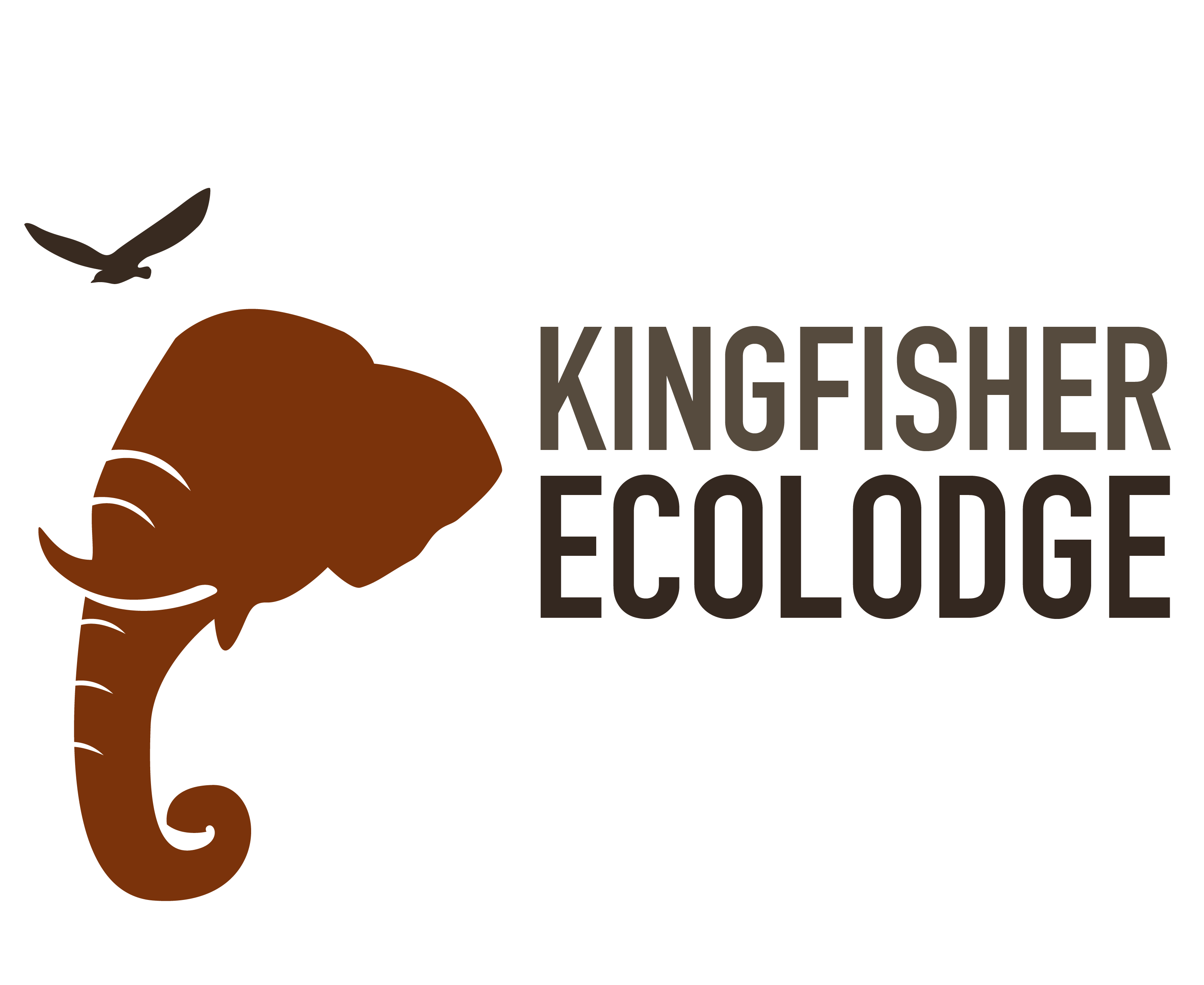 Hiker clipart jungle trekking. Kingfisher ecolodge logo