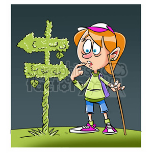 Trina the cartoon girl. Hiker clipart lost phone