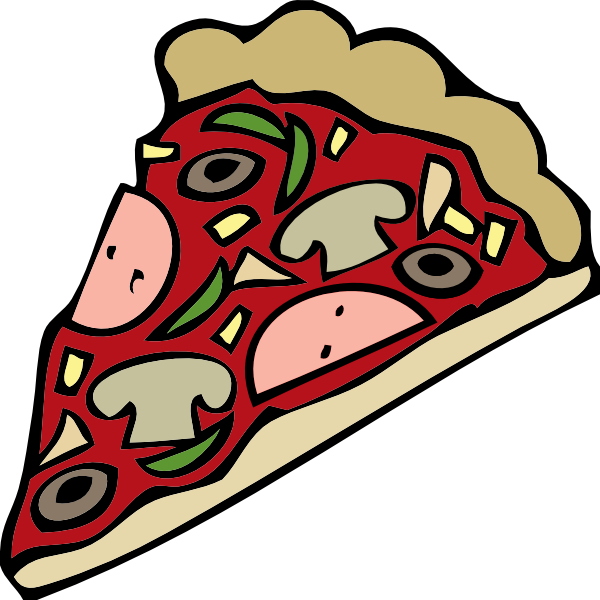 Hike clipart montagne. Free vector pizza slice