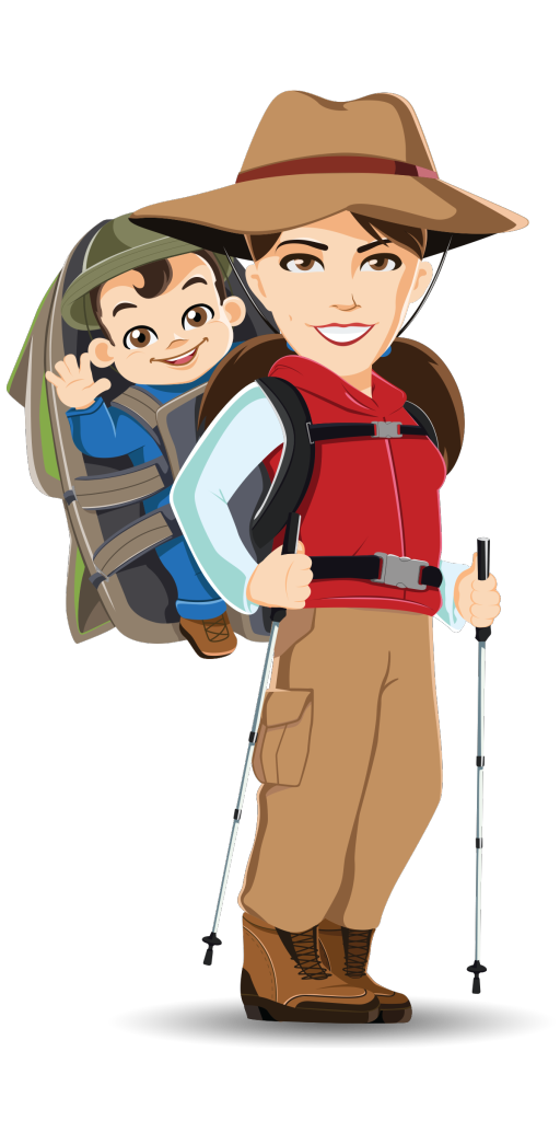 About baby share this. Hiking clipart family hike
