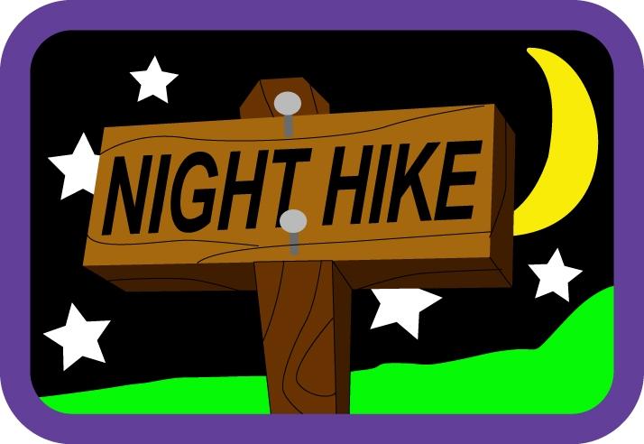 Hike clipart night hike.