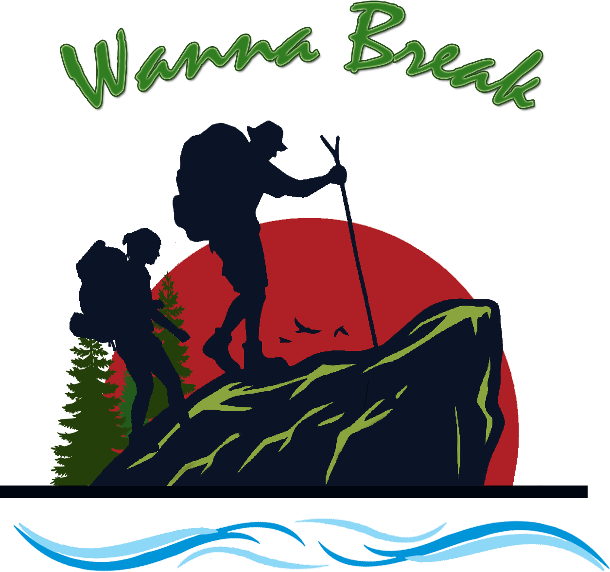 Wanna break we have. Hike clipart rural tourism