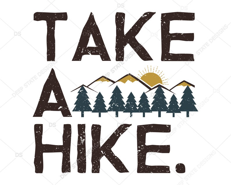 Take a hiking outdoors. Hike clipart svg