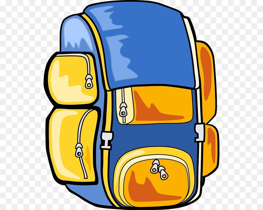 Hike clipart travel backpack. Hiking yellow