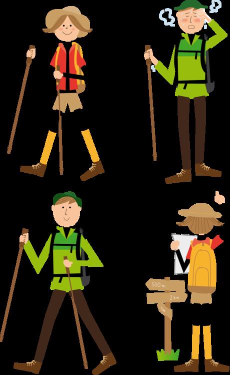 Standing human behavior easel. Hike clipart walker