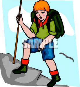 Hike clipart walking hill up. Mountain hiking free download