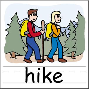 Clip art basic words. Hike clipart